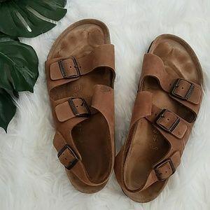 Like New Men's Brown Birkenstock Sandals 44
